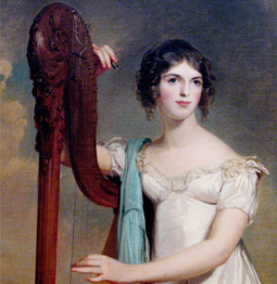 Woman and harp
