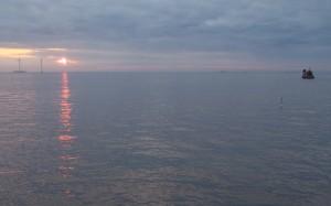 Wschód słońca nad Kopenhagą
