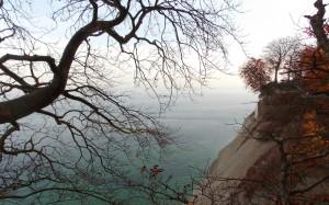 Bałtyk widziany z klifu Møns Klint