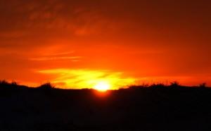 Pierwszy brzask słońca.
