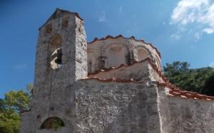 Przydrożny, zabytkowy kościółek na Rodos