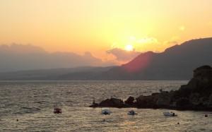 Zachód słońca nad Rodos