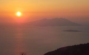 Wieczorna zorza nad Morzem Śródziemnym