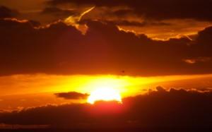 Słońce jesienią nad Bałtykiem